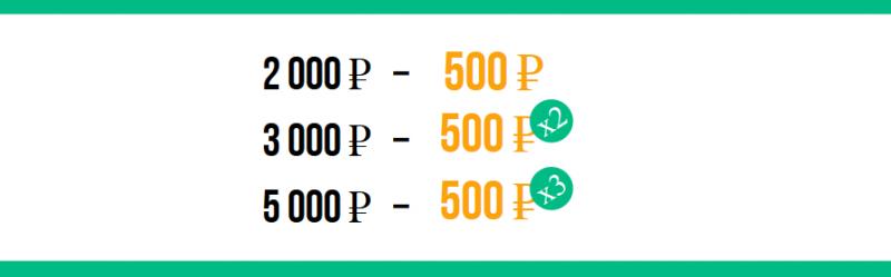 500 ставок